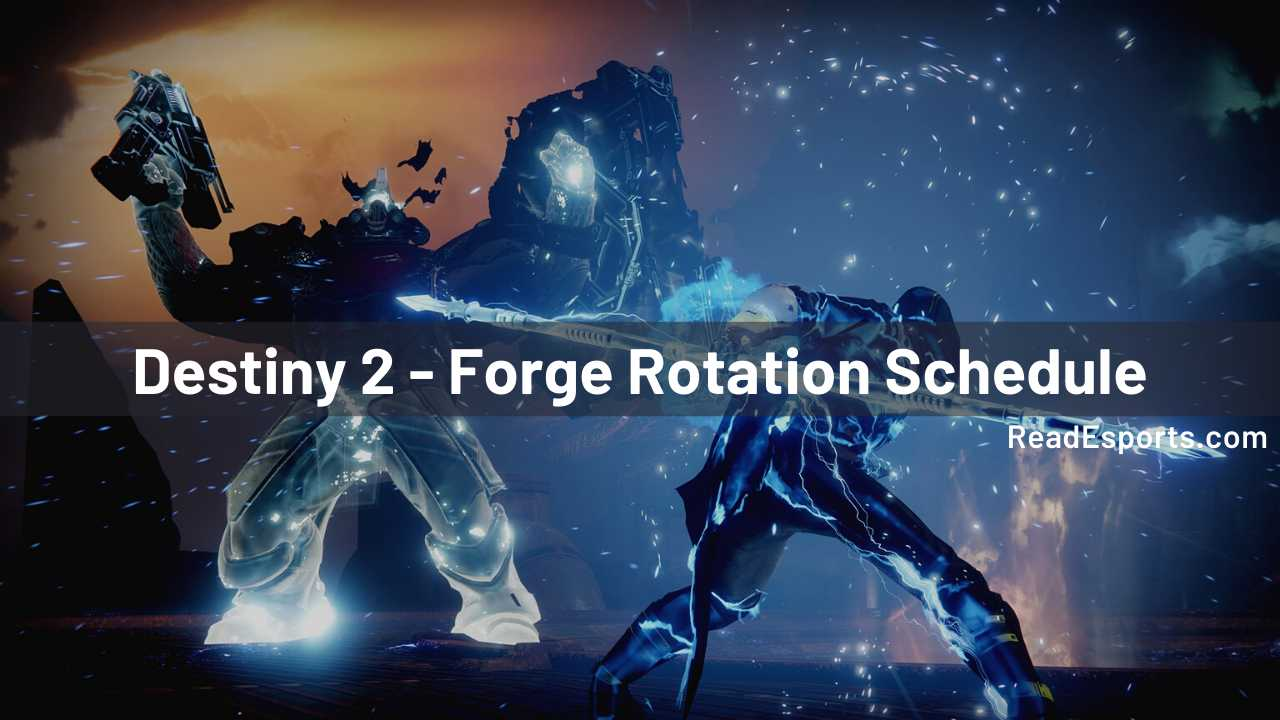Destiny 2 - Forge Rotation Schedule