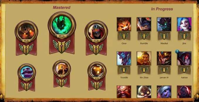 league of legends mastery, league of legends mastery points, lol champion mastery, lol mastery, lol mastery levels, mastery league of legends