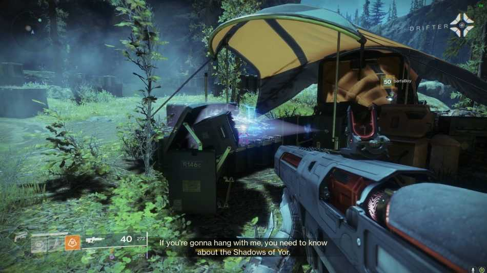 destiny 2 farm to table, drifters hideaway, farm to table destiny 2, farm to table quest step, honor among thieves destiny 2, mystery and potential, the jerky destiny 2